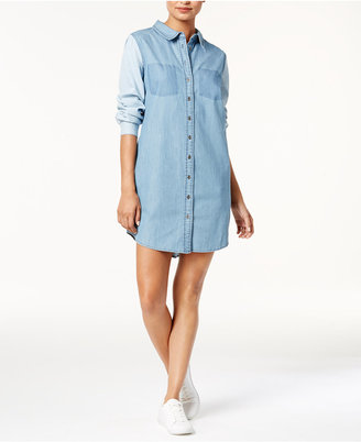 Velvet Heart Manika Cotton Denim Shirt Dress $98 thestylecure.com
