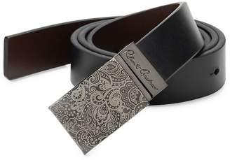 Robert Graham Men's Paisley Buckle Leather Belt
