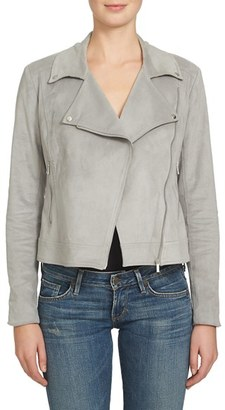 Women's 1.state Faux Suede Moto Jacket $169 thestylecure.com