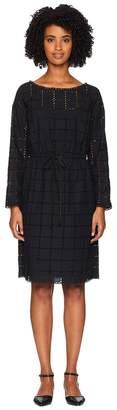 Sonia Rykiel Broderie Anglaise Carreau Long Sleeve Dress Women's Dress