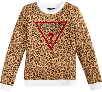 GUESS Big Girls Leopard-Print Sweatshirt