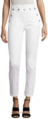 Maje Women's Cotton Buttoned Crop Pant