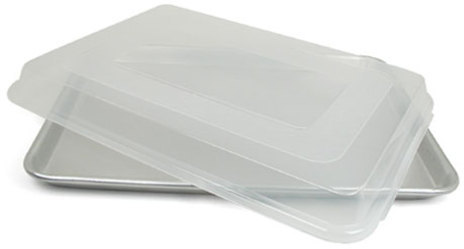 Nordicware 18x13x1-in. Natural Commercial Bakeware Baker's Half Sheet Pan with Storage Lid