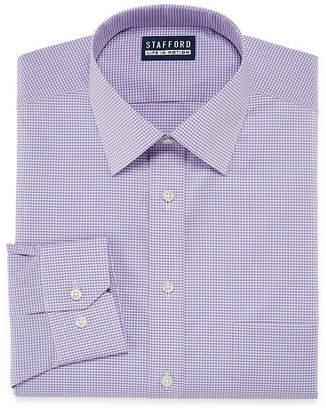 Coolmax STAFFORD Stafford All Season Long Sleeve Woven Stripe Dress Shirt