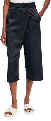 Vince Satin Crossover Culotte Pants