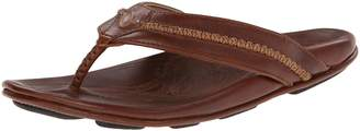 OluKai Overland Sheepskin Co Men's Mea Ola Leather Sandals