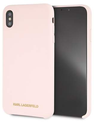 Karl Lagerfeld Pink Silicone Soft Touch iPhone XS Max Case