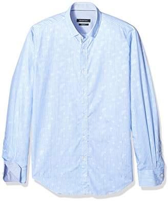 Bugatchi Men's Slim Fit Button-Down Collar Long Sleeve Woven Shirt