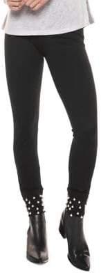 Dex Faux-Pearl Embellished Leggings