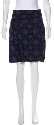 Marni Trompe L'oeil Knee-Length Skirt Aubergine Trompe L'oeil Knee-Length Skirt