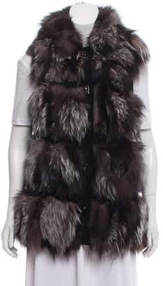 Michael Kors SIlver Fox Fur Vest