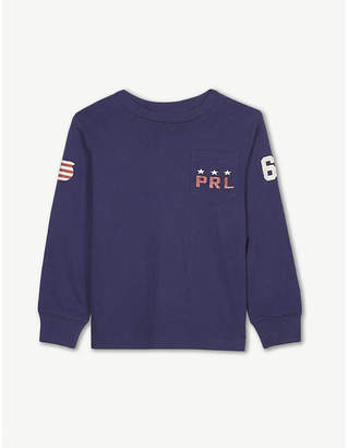 Ralph Lauren Eagle long-sleeve cotton T-shirt 2-4 years