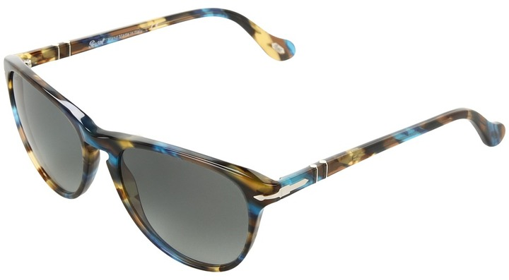 Persol PO3038S (Brown Spotted Blue/Brown/Gradient Grey Lens) - Eyewear