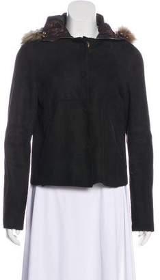 Dolce & Gabbana Fur-Trimmed Lamb Suede Jacket