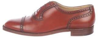 Wilkes Bashford Leather Square-Toe Oxfords