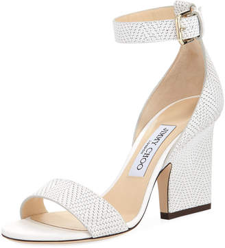 Jimmy Choo Edina Textured Leather d'Orsay Sandal