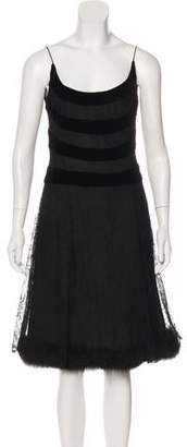 J. Mendel Fox Trimmed Dress