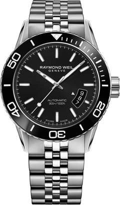 Raymond Weil Freelancer Diver Automatic Bracelet Strap Watch, 43mm
