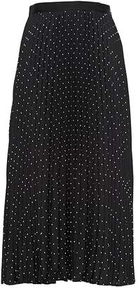 Banana Republic Polka Dot Pleated Midi Skirt