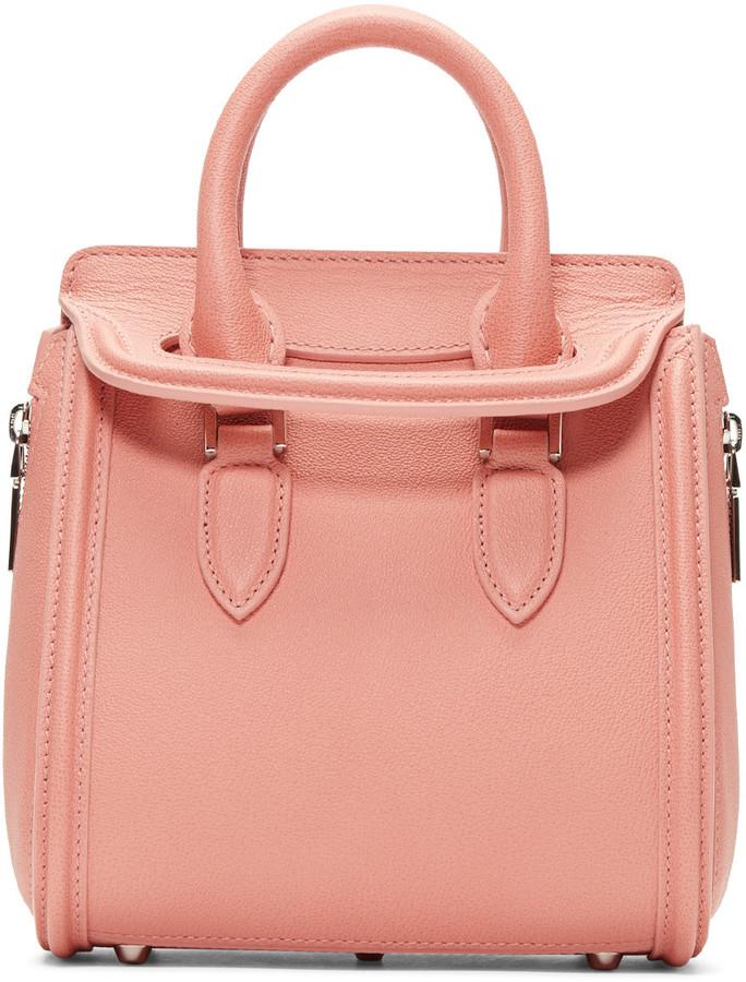 Alexander McQueenAlexander McQueen Pink Mini Heroine Bag