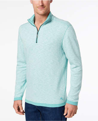 Tommy Bahama Men's Sea Glass Quarter-Zip Sweater
