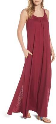 Caslon Twist Neck Maxi Dress