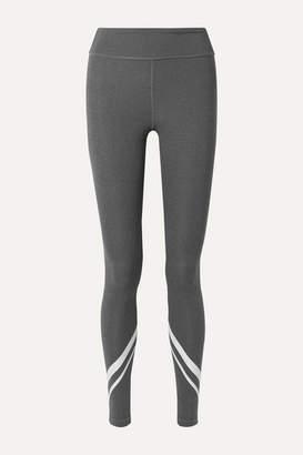 Tory Sport Printed Stretch-jersey Leggings - Dark gray
