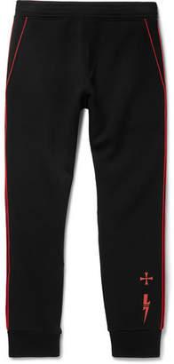 Neil Barrett Slim-Fit Tapered Piped Neoprene Sweatpants
