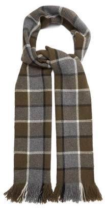 Margaret Howell Checked Wool Scarf - Mens - Grey