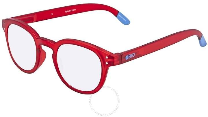 B+D Blue Ban Reader Matt Red Eyeglasses