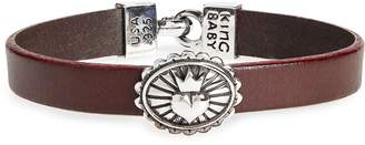 King Baby Studio Heart Leather Bracelet