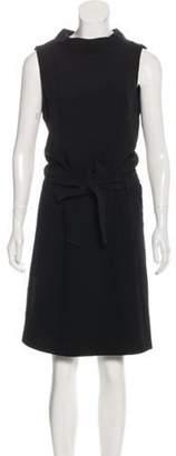 Balenciaga Sleeveless Knee-Length Dress Black Sleeveless Knee-Length Dress