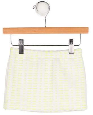 Milly Minis Girls' Knit Cutout-Accented Skirt w/ Tags