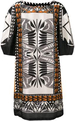Alberta Ferretti printed shift dress