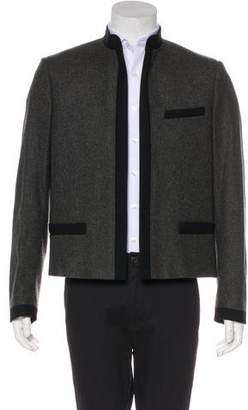 Christian Dior 2006 Cropped Wool Open-Front Officer Jacket