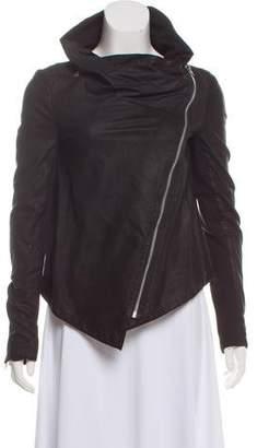 Muu Baa Muubaa Leather Asymmetrical Jacket