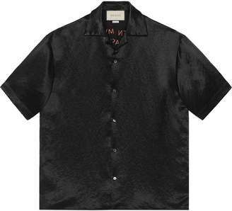 Gucci Embroidered acetate bowling shirt