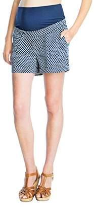 Seraphine セラフィン マタニティパンツ Marietta タイルプリントコットンマタニティショートパンツ イギリスサイズ14 ネイビータイル