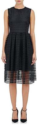Barneys New York Women's Square-Eyelet Midi-Dress $895 thestylecure.com