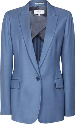 Reiss Etta Jacket - Slim Fit Blazer in Marine Blue