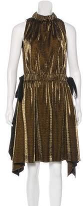 Fendi Metallic Sleeveless Dress