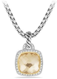 David Yurman Albion Pendant with Diamonds and 18K Gold $2,350 thestylecure.com