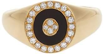 Anissa Kermiche - Diamond, Onyx & Yellow Gold Ring - Womens - Yellow Gold