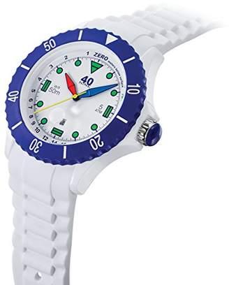 40Nine Men's Quartz Plastic and Silicone Casual Watch