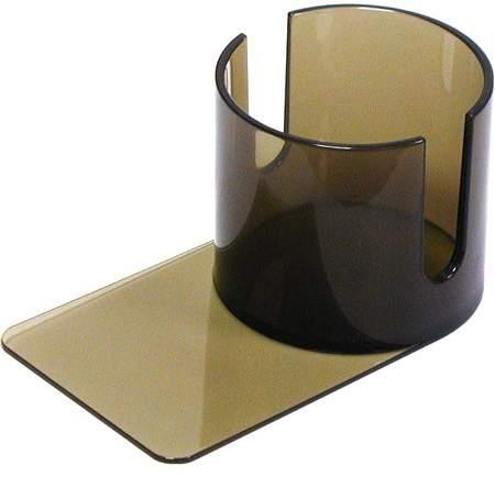 Trademark Poker Plastic Cup Holder - Smoke (Slide under) w/Cutouts