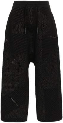 Byborre drop crotch panelled trousers