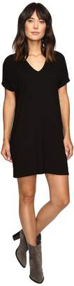 Lilla P Stretch Jersey Short Sleeve V-Neck Dress Women's Dress