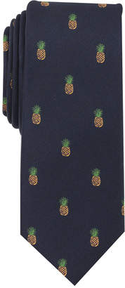 Bar III Men's Pineapple Conversational Skinny Tie, Created for Macy's