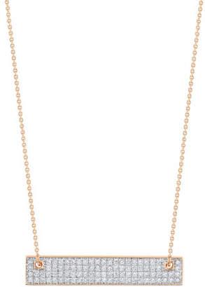 ginette_ny 18k Rose Gold Mini Diamond Baguette Necklace
