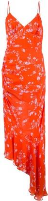 Nicholas floral draped dress